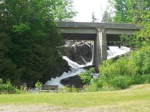 Waterfalls and bridge near Barnet VT 2016